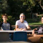 Ernesto mit seinen T�chtern Alice und Arianna, Toskana