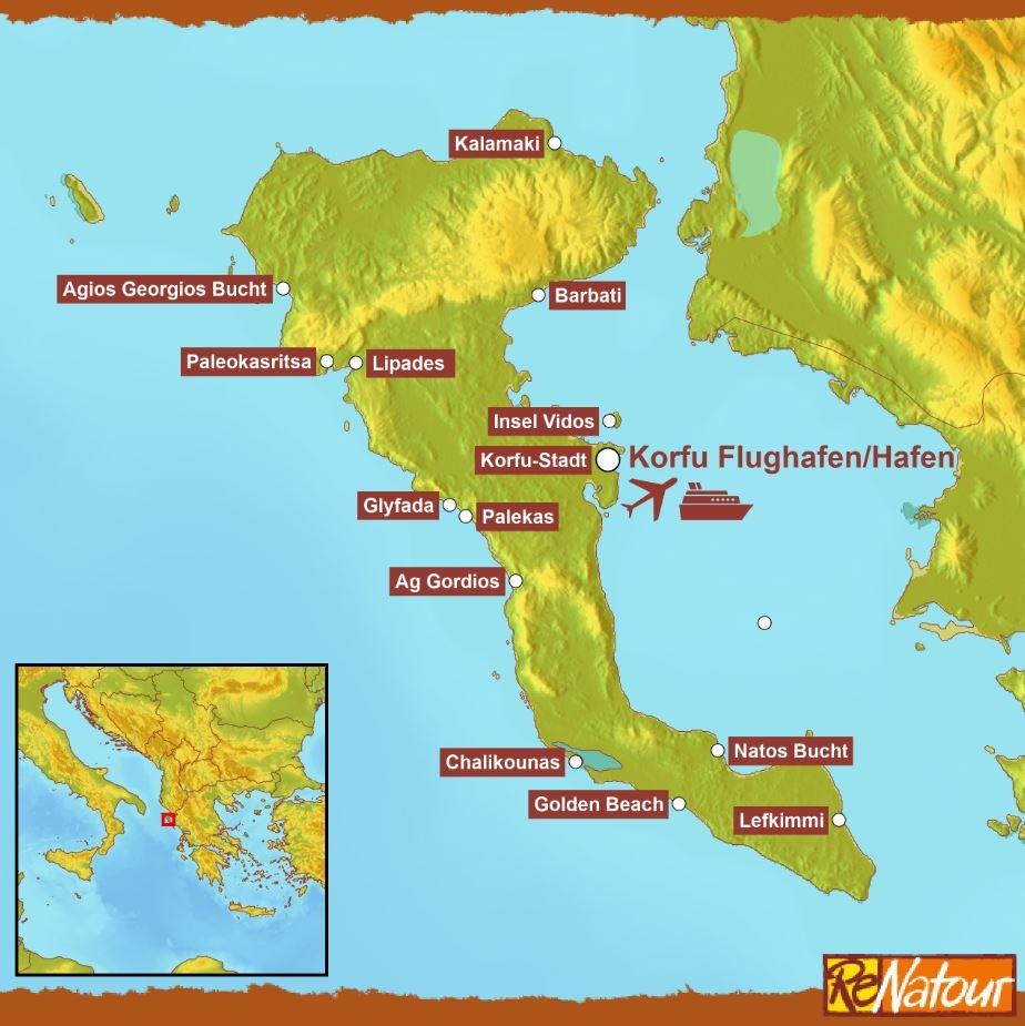 Korfu schönste Strände Griechenland
