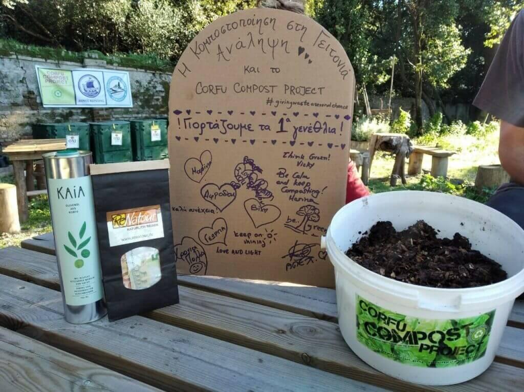 Spende ReNatour an das Corfu Compost Project