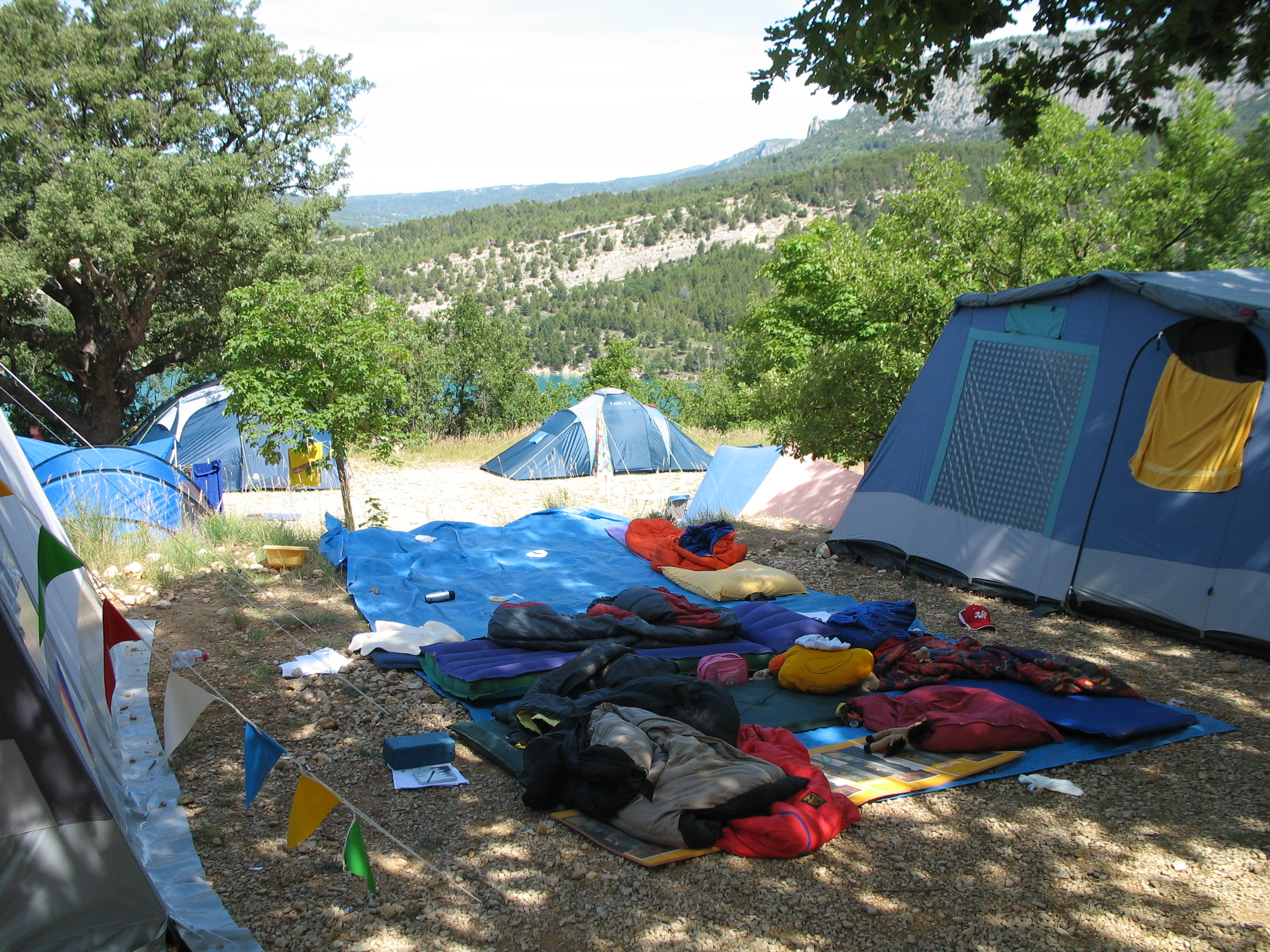 Camping in der Provence.