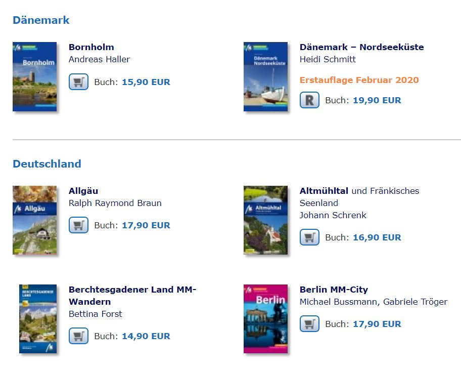 Reiseführer Michael-Müller-Verlag Übersicht